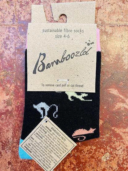 Bamboozld Kids Socks - Ditsy Cat Size 4-6