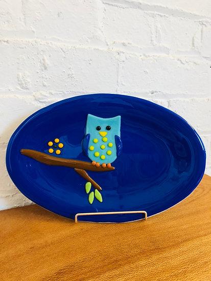 Owl Glass Plate