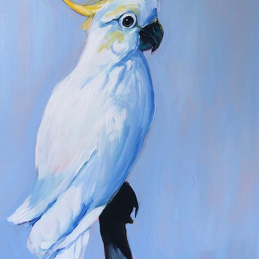 BEEF AUST WHITE COCKATOO 2HR PAINTING
