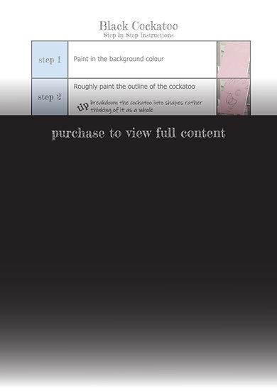 Step by Step Black Cockatoo Painting PDF
