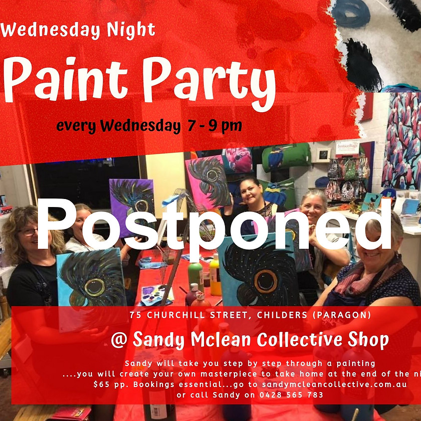 Wednesday Night Paint Party at the Sandy McLean Collective Shop