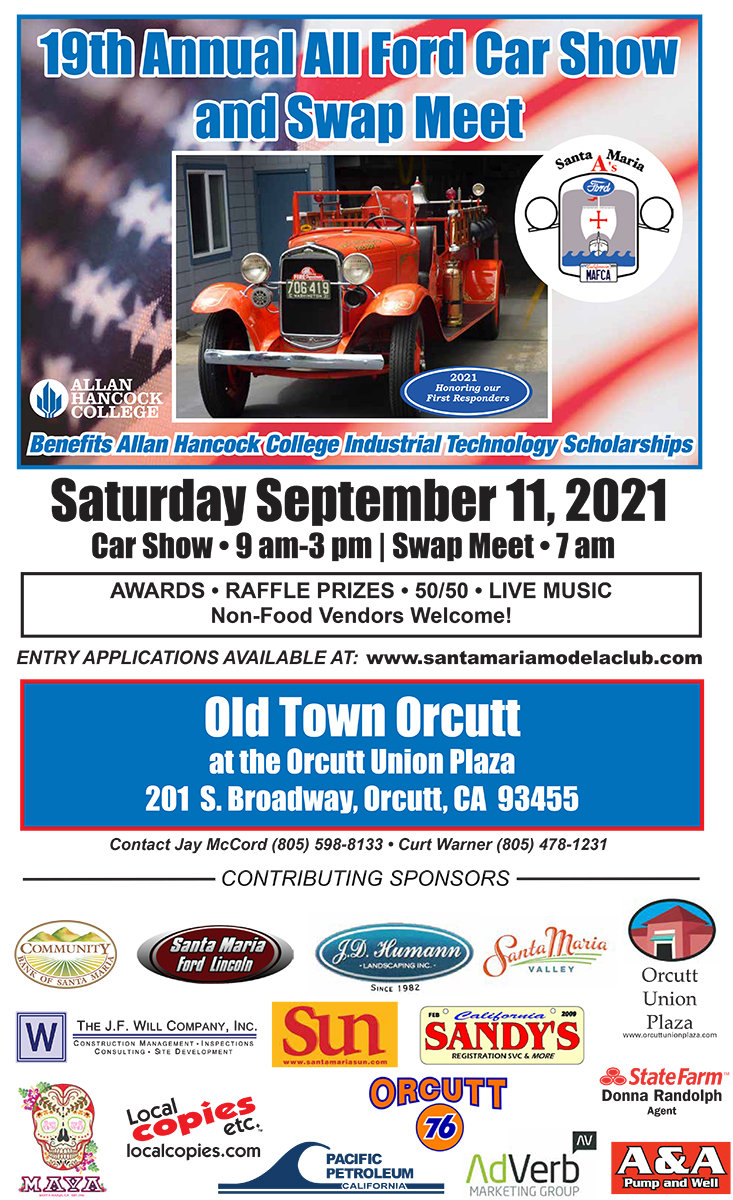 19th Annual All-Ford Car Show Old Town Orcutt