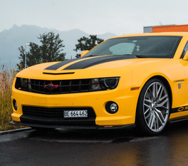 Waxed Yellow Chevrolet Camaro