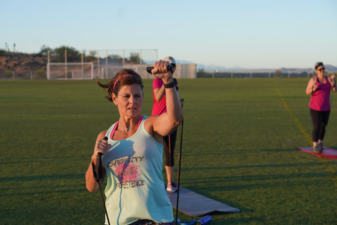Leaders in outdoor group fitness on lear
