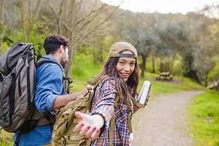 College kids going on a hike in anothe country for Gap Year.