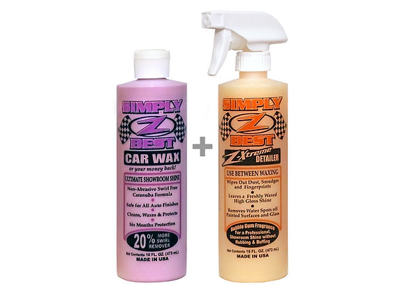 Z-Best Car Wax / Z-Xtreme Detailing Set