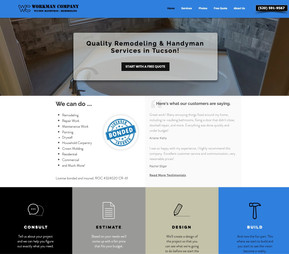 Tucson handyman web design project