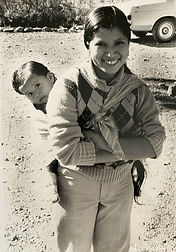 Latino mother with child