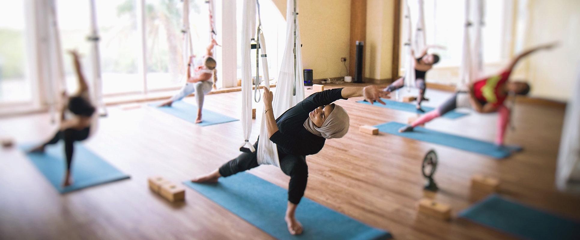 Seven Wellness Swing Yoga Class