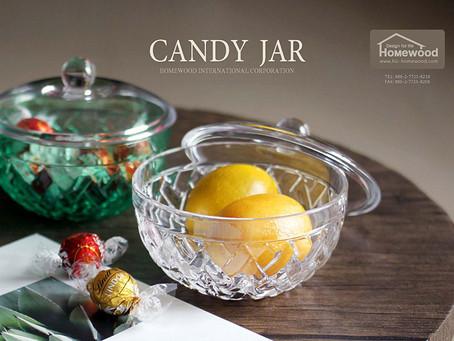 HOMEWOOD PLASTIC CANDY JAR