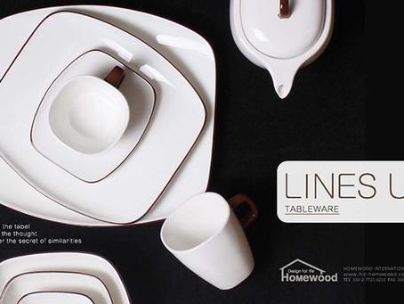 HOMEWOOD LINES UP TABLEWARE
