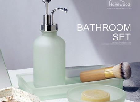 HOMEWOOD GLASS BATHROOM SET