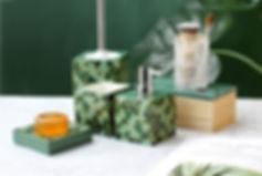 5pc-set-green-marble-jungle-geometric-se