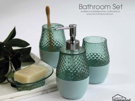 HOMEWOOD PLASTIC BATHROOM SET