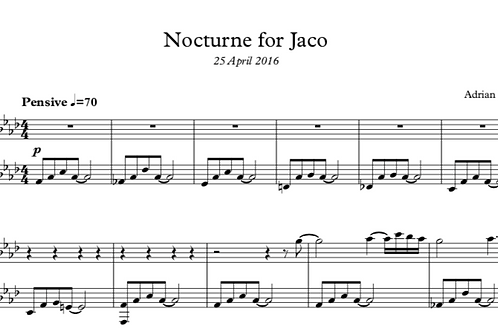 Nocturne for Jaco (Nocturne 7)