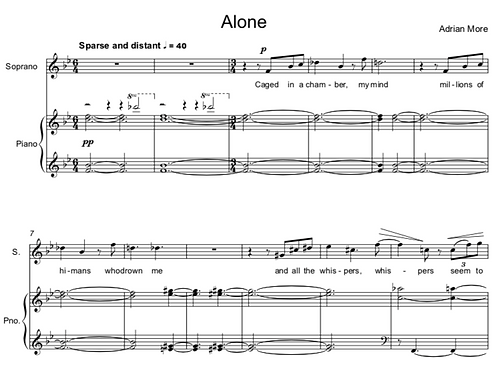 Alone - for Voice and Piano