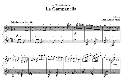 La Campanella easy version (in g minor) ABRSM gr 5/6