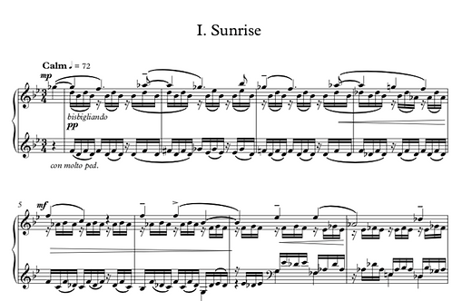 Nocturne No. 1, Sunrise for Solo Piano