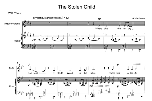 The Stolen Child - Voice and Piano