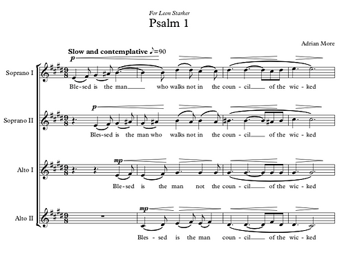 Psalm 1 for SSAA