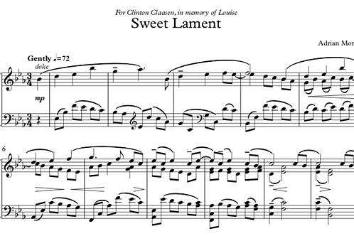 Sweet Lament for Solo Piano