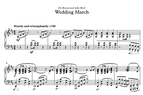 Wedding March No. 2 for Solo Piano
