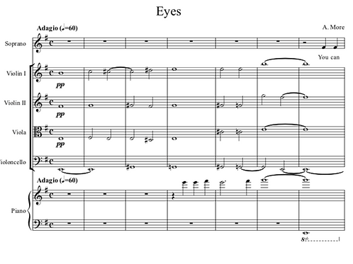 Eyes - For Voice, Piano and String Quartet