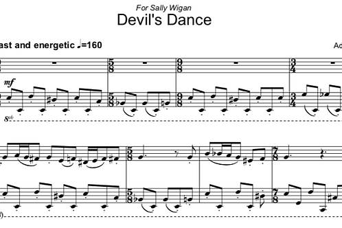 Devil's Dance - Etude for Solo Piano