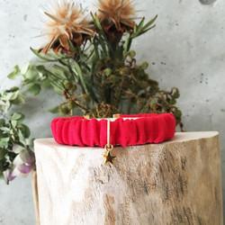 シュシュな首輪(赤りんご)