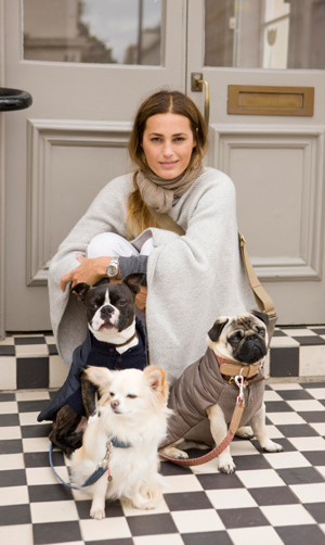 Yasmin Le Bon with her dogs, Mungo &