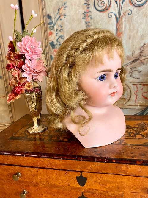 "Beautiful 10.25"" Honey Blonde Mohair Wig"