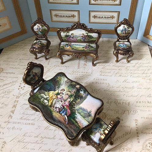 Miniature Austrian Enameled Furniture