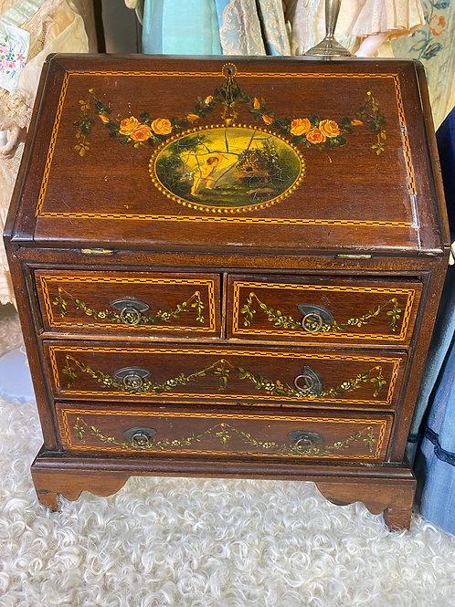 Richly Decorated Slant Front Desk