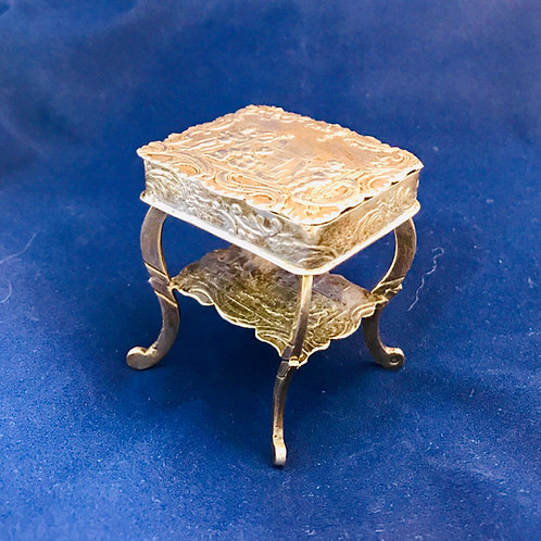 Beautiful Miniature Sterling Sewing Table