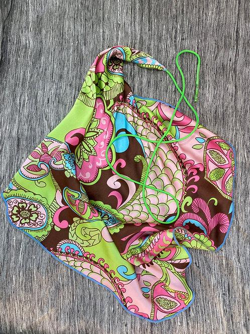 Clarinet Swab: Pink Green Floral