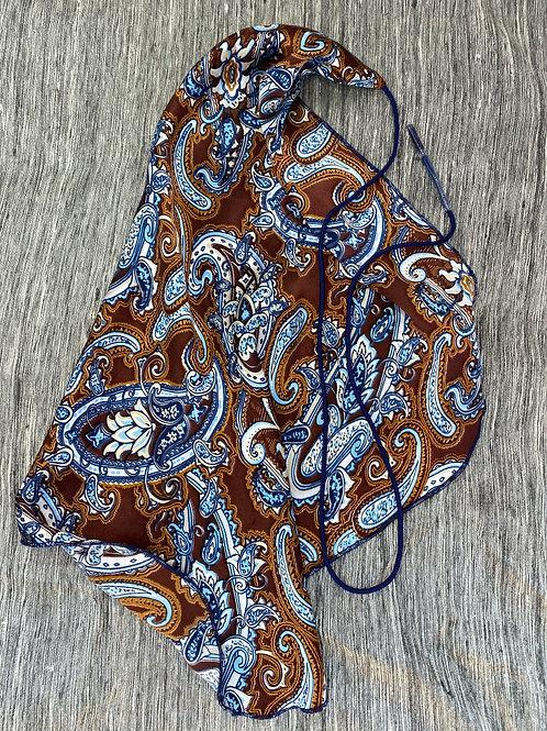 Clarinet Swab: Brown Blue Paisley