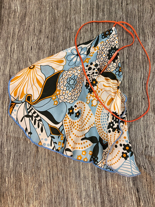 Clarinet Swab: Blue Orange Floral