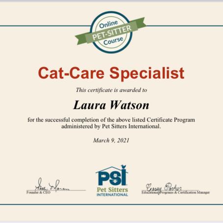 Cat-Care Specialist Certificate