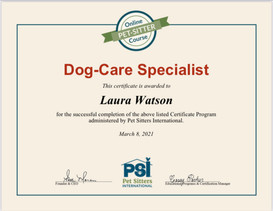 Dog-Care Specialist Certificate