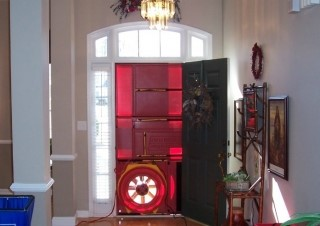 Blower Door in Front Door