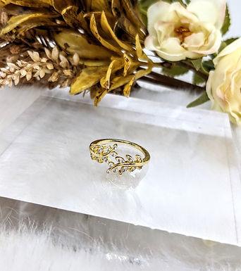 戒指、鋯石、包14K金(2-2.3cm直徑-可調較)
