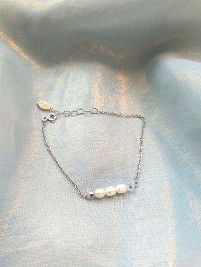 Bracelet 手鍊/ Pearl珍珠(5mm) /Gold-plated包金