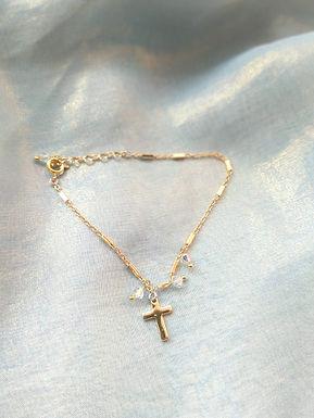 Bracelet 手鍊/ Swarovski施華洛世奇水晶(4mm)/ 18K Gold-plated包金