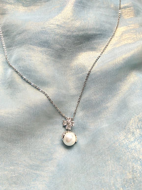 頸鍊Necklace/珍珠Pearl/鋯石Zircon/鍍金Gold-plated