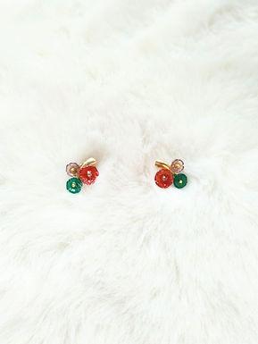 Earrings耳環/14K包金 /Amethyst紫晶(5mm)/ Red Agate紅瑪瑙(9mm)/