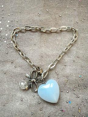 Bracelet手鍊/ -blue Agate藍瑪瑙/ -Crystal水晶