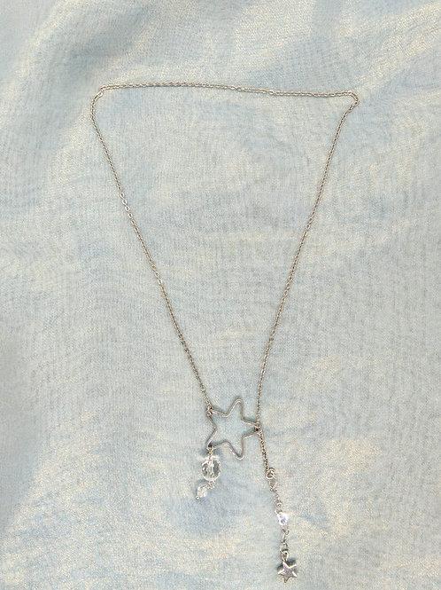 頸鍊Necklace/白水晶Crystal/Swarovski施華洛世奇水晶/鍍金Gold-plated