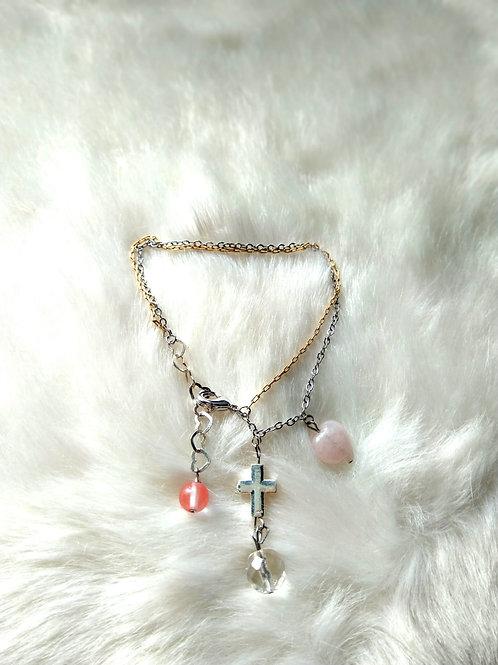 Bracelet手鍊 /Strawberry stone士多啤梨晶(5mm) /Crystal 水晶(8mm) /Rose Quartz粉晶(10mm)