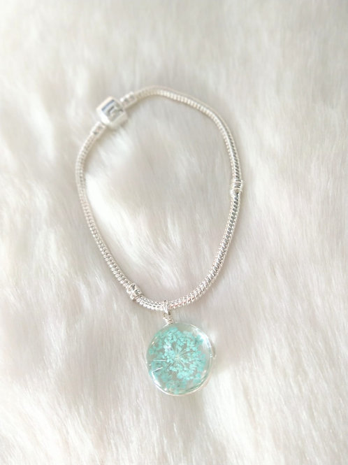 Bracelet 手鍊 Resin 樹脂(20mm)/ Silver純銀