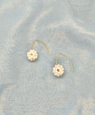 耳環 Earrings/淡水珍珠Pearl(20mm)/包14k金Gold-plated